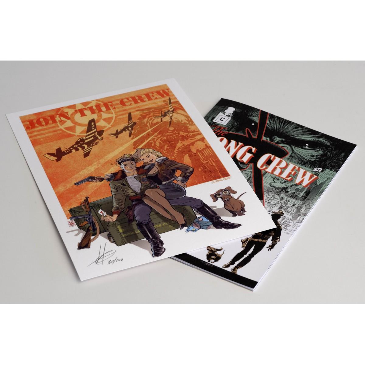 PACK - The KONG CREW - comic + print (signé et numéroté) - Eric Hérenguel