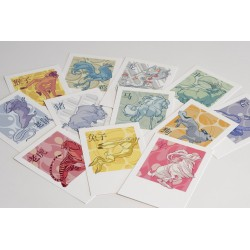Claire Wendling - Cartes postales 'Zodiac chinois'