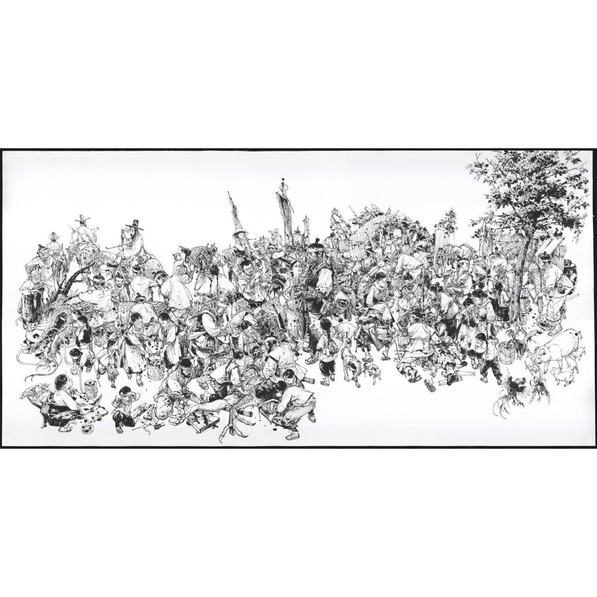 Digigraphie - 'Dragon Hunter' - 150 x 75 cm (numéroté et signé)