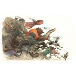 'La Course' - Digigraphie - 100 x 70 cm (numéroté et signé)- Armel Gaulme