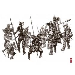 Ex-libris - 'Team Spirit' - 30X40cm - SIGNE & NUMEROTE (99 ex.)