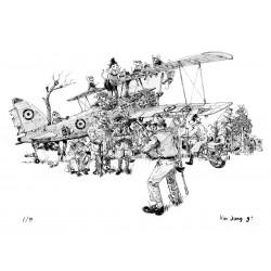 Ex-libris - 'Return of the Ace' - 30X40cm - SIGNE & NUMEROTE (99 ex.)