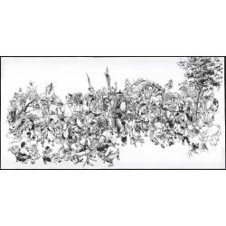 Digigraphie - 'Dragon Hunter' - 100 x 50 cm (numéroté et signé)