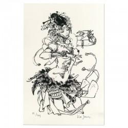 Ex-libris 'Danseuse' 20x30 cm - Signé & Numéroté (149 ex.)
