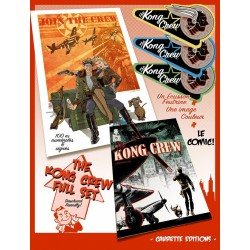 BUNDLE - The KONG CREW - comic + patch + print (signed and numbered) - Eric Hérenguel